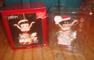 Carlton Cards BETTY BOOP SURPRISE Christmas Ornament with SOUND