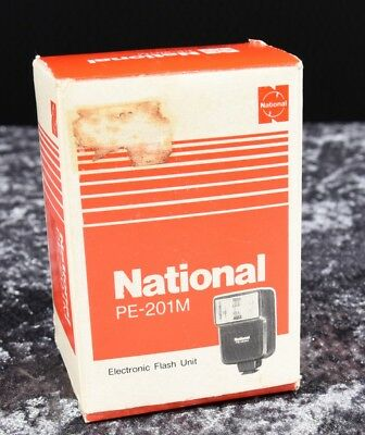 NATIONAL PE-201M ELECTRONIC FLASH with orignal box and instructions - tested