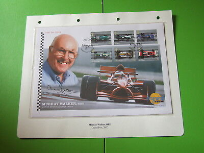 Westminster Autographed Editions Cover Fdc Signed F1 Commentator Murray Walker