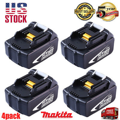 4X 18V 3.0Ah BL1830 BL1815 LXT400 LITHIUM ION BATTERY FOR MAKITA BL1845 UPGRADED