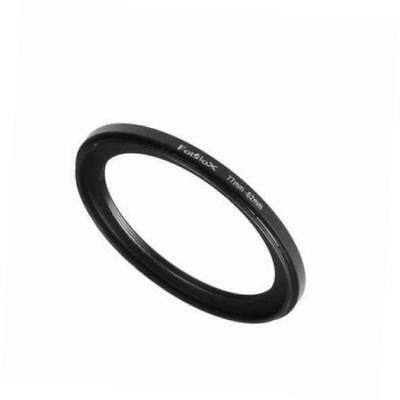 metal step down ring filter adapter, anodized black aluminum 72mm-62mm, 72-62