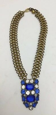 LULU FROST Vintage Snake Chain w/ Glass Stone Pendant **NEW MINT CONDITION**