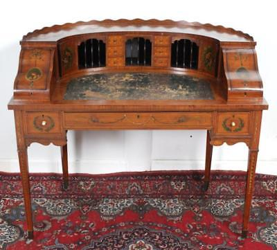 Antique French Hand Painted Ladies Writing Desk Lot 426