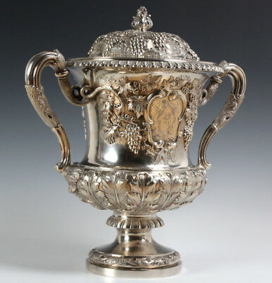 Antique Scottish Sterling Silver Trophy Vase 2770g Lot 261