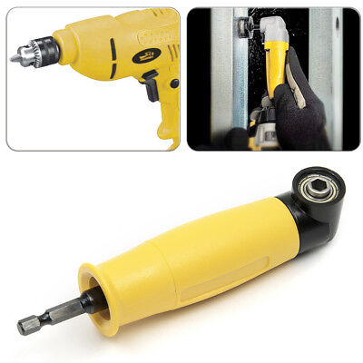 """90 Degree Right Angle Driver 1/4"""" Hex Screwdriver Holder Drill Bit Power Tools"""