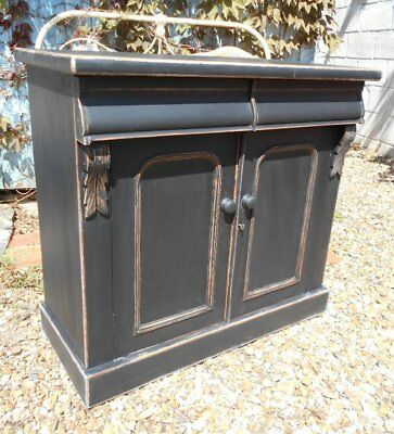 Victorian  Painted / Distressed  Cupboard / Chiffonier  Base