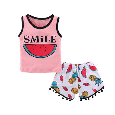Kids Baby Boys Toddler Summer Vest Tops+Pants Shorts 2PCs Outfits Clothes Set