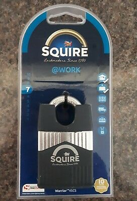 SQUIRE @work WARRIOR 45CS CLOSED SHACKLE ARMOURED steel  PADLOCK High security