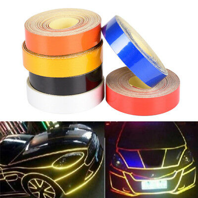 1cmx5m Car Truck Reflective Roll Tape Film Safety Warning Ornament Sticker`Decor