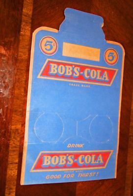 Vintage Bob's Cola 6 pack cardboard carton~unused