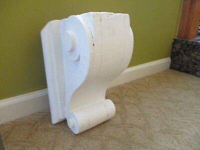 Two Large Antique White Corbels