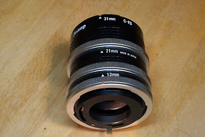 Jessops set of auto extension tubes for Canon FD mount