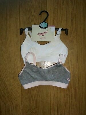 2 Pack Marks & Spencer Girl's Angel Non Wired Sports Bra's Uk Size 28A