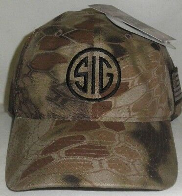 SIG SAUER HAT SIG BLACK or BROWN CAMO LOOK KRYPTEK TACTICAL Kryptek PUNISHER HAT