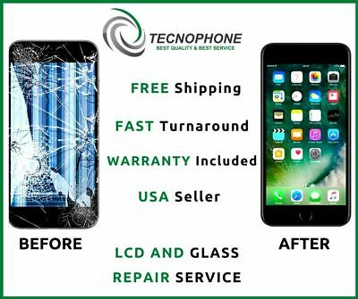 Apple iPhone 6+ Plus Cracked Screen Glass and LCD Repair Replacement Service