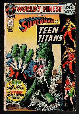 World's Finest #205 VG 4.0 DC Bronze Age Giant 1971 Superman/Teen Titans!!!
