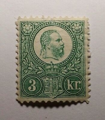Hungary Magyar 1871 3k mint with gum €250 Sold as is/reprint. Closed cut top