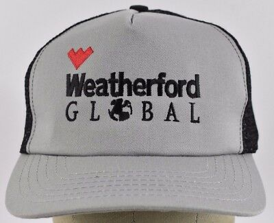 008c3e3e41bbe Gray Weatherford Global Logo Embroidered Trucker hat cap Adjustable Snapback