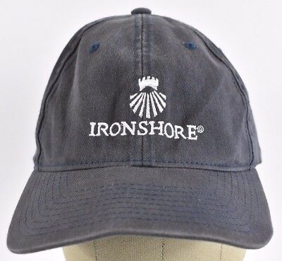 Navy Blue IronShore Insurance Company Logo Embroidered Baseball hat cap  Fitted 7ef3db81a8b0