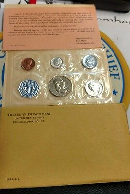 1963 United States Silver Proof Set Coins in US Philadelphia Mint Wrap + inserts