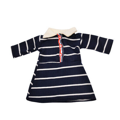 Striped Casual Skirt Dress Outfit for 18'' American Girl Our Generation Doll