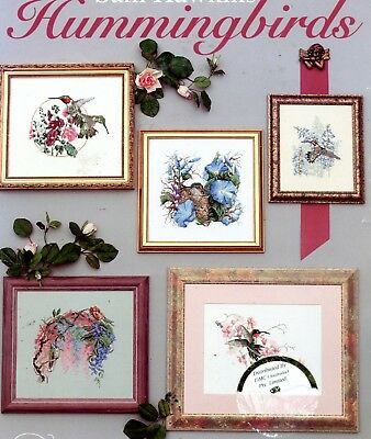 Jeanette Crews Designs Cross Stitch Booklet - Hummingbirds. 11 pages