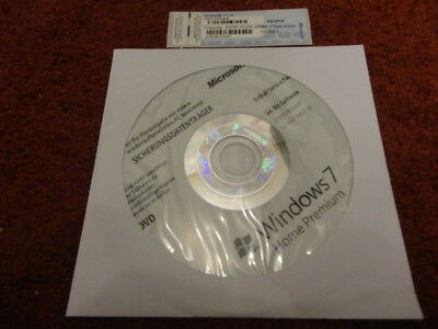 MS Windows 7 Home Premium 64Bit CD + Win 7 Home COA Dell Product Key Schlüssel