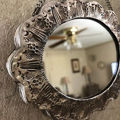 900 Silver Antique Mirror, Weighted.