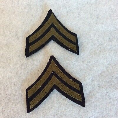 WW2 US Military Corporal E4 Twill Army rank insignia chevrons