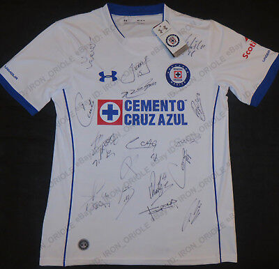 01be396ad 2018 CRUZ AZUL team signed UNDER ARMOUR soccer jersey w  REAL PROOF 16 autos