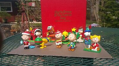 peanuts christmas ornaments danbury mint charlie brown snoopy figures collection