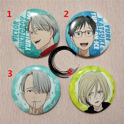 T629 Hot Anime YURI!!! on ICE badges Pins Schoolbag Backpack Decorate