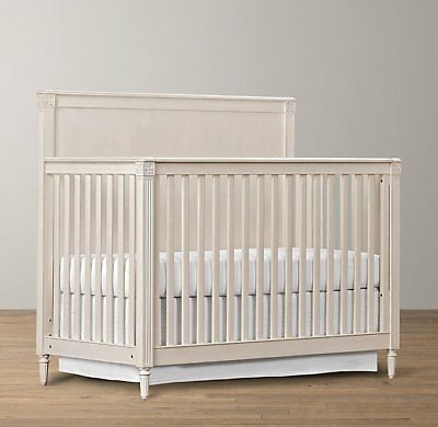 Restoration Hardware Emelia Crib with Toddler Bed Conversion Kit: Aged White