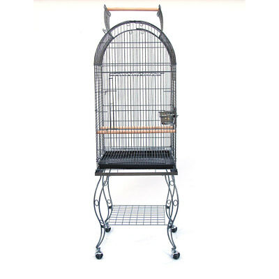 Dome Top Open Roof Bird Parrot Cage with Stand Cockatiel Amazon African Grey