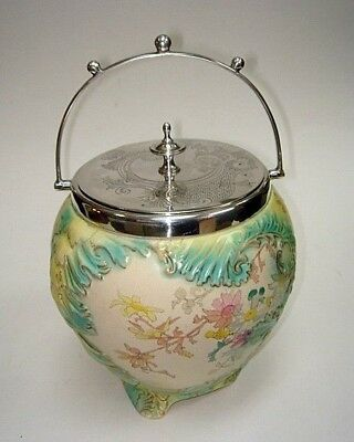 """Wonderful 6.5"""" Biscuit Barrel by James Macintyre & Co ca1900 Hand Decorated"""