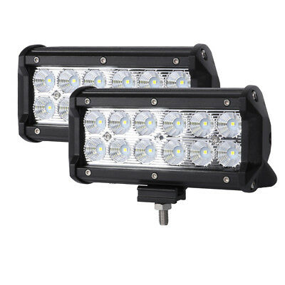 2x 7inch CREE LED Work Light Bar Flood Reverse Fog Driving Lamp Offroad 4WD