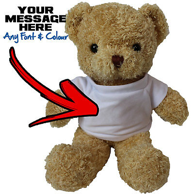 Personalised Light Brown Teddy Bear Cuddly Stuffed Soft Plush Animal Doll Gift