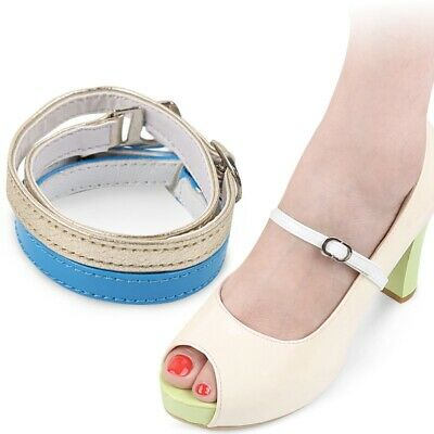 1Pair Detachable Shoe Straps Heels Buckle Belt Separable Ankle Strap Pumps Decor