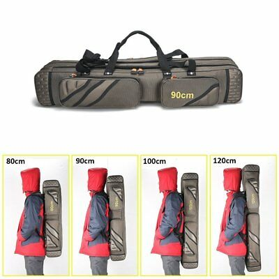 3 Layer Fishing Bag Rod Reel Case Carrier Holder Fishing Pole Storage Bags Case