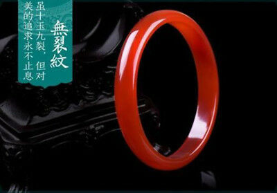 Chinese Natural Red Agate Chalcedony Ice Jade Bangle Bracelet 56~ 66mm