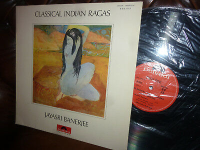 "Jayasri Banerjee, Classical Indian Ragas, France Polydor 658.051 LP, 12"" 1967"