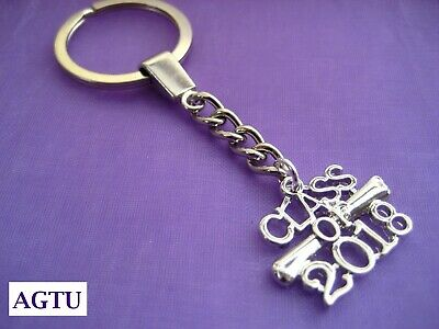 PICK YOUR CHARM Silver Class of 2018 Graduation Degree KeyChain Keyring Diploma