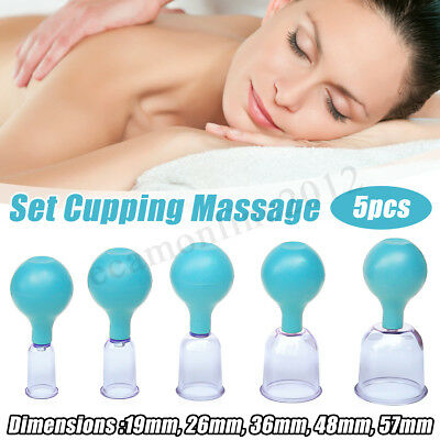 5pcs/set Anti Cellulite Massage Vacuum Cupping Body Facial Cups Therapy Beauty