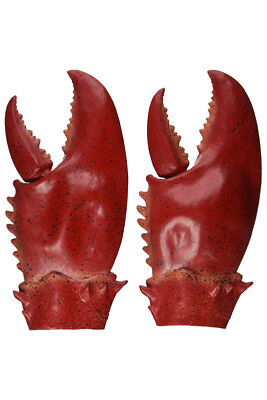 1 Pair Latex Lobster Crab Claws Halloween Gloves Adult Christmas Gift New