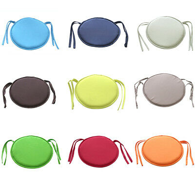 round bistro chair cover cushion seat stool tie pads kitchen dining