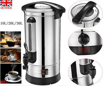 Electric 10/20/30L Tea Urn Commercial Catering Stainless Steel Hot Water Boiler