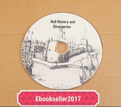 Hull History ebooks, genealogy & Yorkshire directories in pdf formats on disc