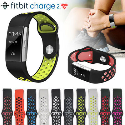 Fitbit Charge 2 Strap Soft Silicone Replacement Sport Loop Watch Band Wristband