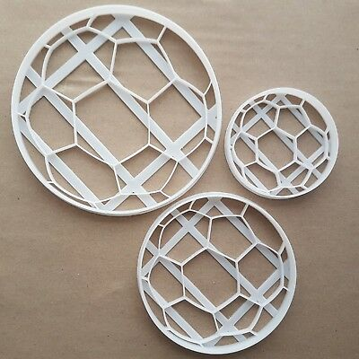 Football Sport Play Shape Cookie Cutter Dough Biscuit Pastry Fondant Sharp
