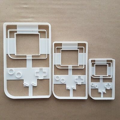 Game Play Handheld Console Shape Cookie Cutter Dough Biscuit Pastry Stamp Sharp